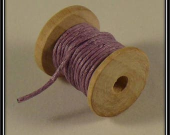 10 meters of waxed 1 mm lilac