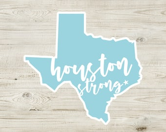 Houston Strong Car Decals