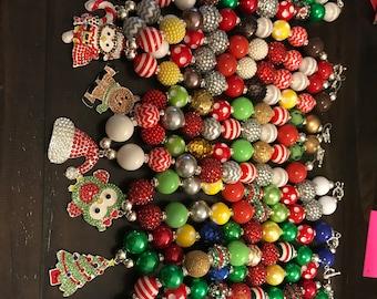 Holiday bubblegum necklaces