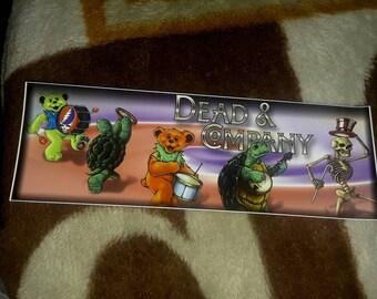 DEAD and COMPANY  GRATEFUL  Bumper sticker...must see!!
