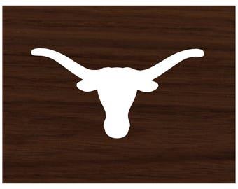 Texas Longhorn Vinyl Decal - Laptop Decal - Macbook Decal - Laptop Sticker - Vinyl Sticker - Car Decal