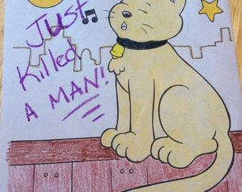 Queen Freddie Mercury Kitties Cat Art