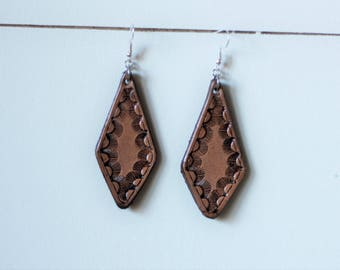 Natural Collection Amy Earrings | Leather Earrings | Birthday Gift | Anniversary | Gifts under 25 | Handmade | Gifts for Her