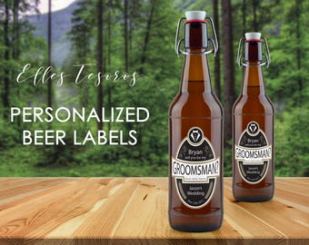 Personalized Beer Label Will You Be My Groomsman Label Groomsman Gift Bestman Label Beer Labels Printable Beer Labels Digital Download