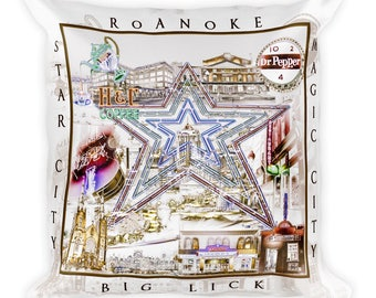 Roanoke City  Pillow