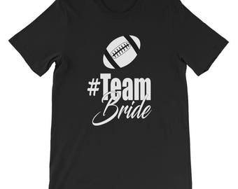 Team Bride Unisex short sleeve t-shirt, Bride t-shirt, wedding party t-shirt, getting married, wedding reception t-shirt
