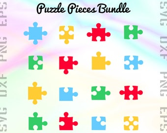 Puzzle SVG Files - Puzzle  Clipart - Puzzle Cricut Files - Puzzle Dxf Files - Puzzle Pieces Cut Files - Puzzle Png - Svg, Dxf, Png, Eps