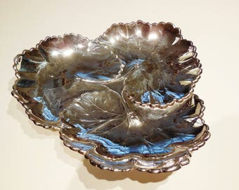 Sterling Silver Candy Dish in the form of a Lilly Pad.