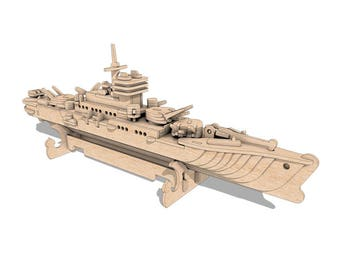 The Cruiser Warship 3D wooden puzzle/model