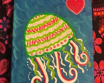 Jellyfish Canvas Painting