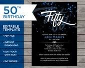50th Birthday Invite, Cus...