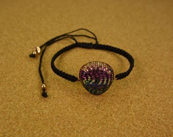 Handmade silver 925 women colorfull bracelet cycle of life