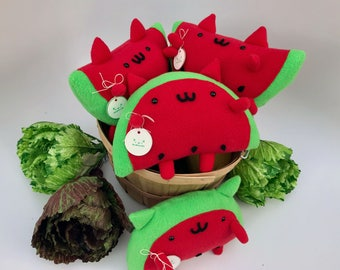 Cute WatermelonCat Plushie / Stuffed Animal