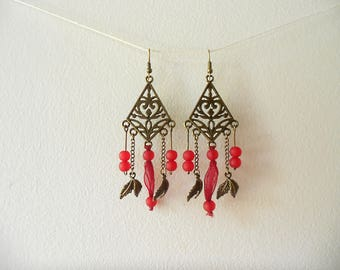 Fancy bronze color and Luxe earrings