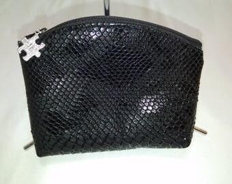 Black faux leather wallet
