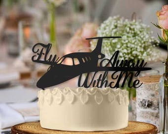 Jet Fly Away With Me Wedding Cake Topper