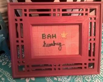BAH humbug Embroidery