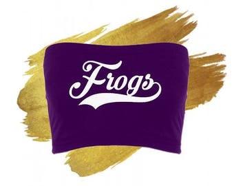 TCU Horned Frogs Purple Spandex Bandeau/Tube Top - College Tailgate Apparel