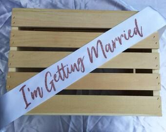 Gift For Bride, Bachelorette Party Sash, Future Mrs Sash, Bridal Shower Party, Bride To Be, Wedding Sash