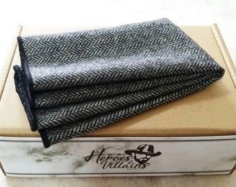 Grey wool pocket square, grey pocket squares,wool pocket squares,wool tie,wool skinny tie,tie,floral pocket squares,grey pocket squares