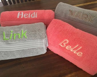 Personalised Name Bath Towel for Wedding, Birthday, Christmas or any special occasion