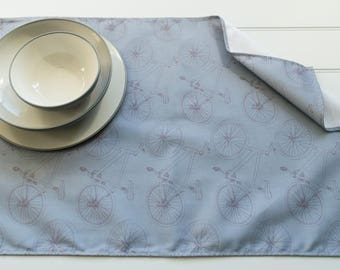 Tea Towel Made from 100% Cotton in Bicycle Teal Pattern