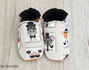 Booties baby shoes baby, fleece baby booties, soft baby booties, baby booties boy slippers, baby birth gift