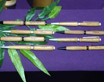 bamboo and olive wood pens