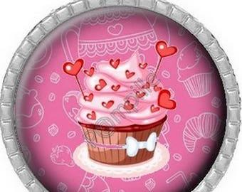 Cabochon pendant - Love cake (263)