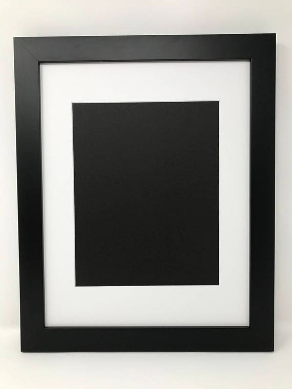 22x28 1 25 Black Frame With White Mat Cut For 18x24