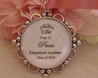 Custom made Prom or Graduation Personalised Pendant Keepsake Gift Present Charm Class Of