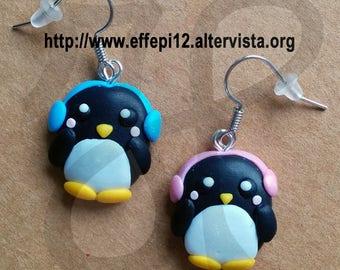 Penguin earrings chilly