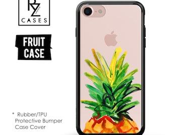 Pineapple Phone Case, Pineapple Case, Fruit Phone Case, iPhone 7 Case, iPhone 6 Case, iPhone 7 Plus Case, Rubber Case, Bumper Case