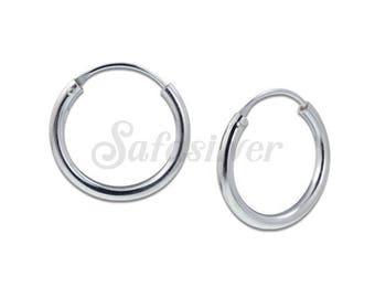 2x18 mm Sterling Silver Earring Hoops