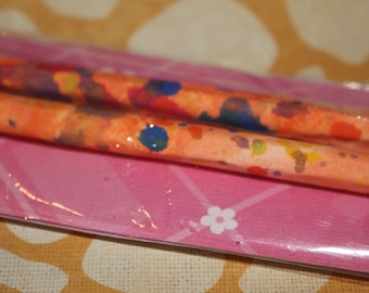 pencil gift set hand painted paper covered pencils, ready to give or keep for yourself