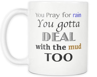 The Equalizer Denzel Washington Pray For Rain You Gotta Deal With The Mud Too Movie Quote Coffee Mug Movie Lover Gift Idea