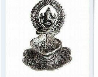 Ganesh lamp/German silver lamp