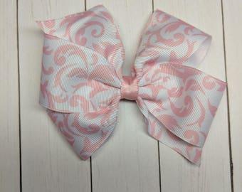 light pink Damask bow