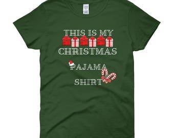 Women's This Is My Christmas Pajama Shirt Short Sleeve T-Shirt