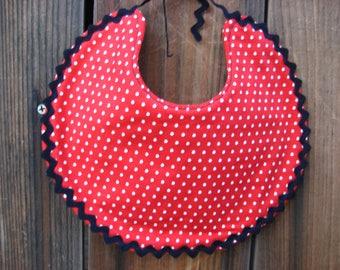 Round Red Dot Bib