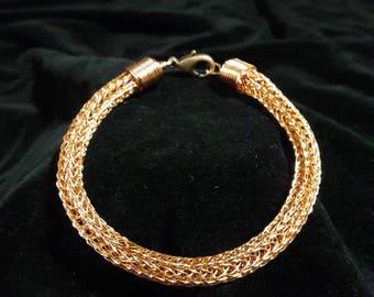 Woven Knit Bracelet Copper