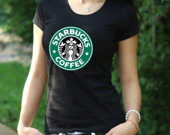 Starbucks shirt  Starbucks Tee  Starbucks coffee tshirt Gift Tshirt Starbucks coffee Tshirt Starbucks coffee Women's T-shirt  Starbucks