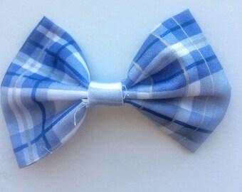 Blue Plaid Pet Bow Tie