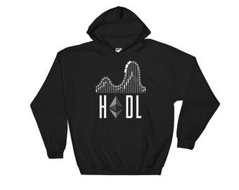 Ethereum HODL Crypto Hooded Sweatshirt // Funny Blockchain Ethereum Sweatshirt // Cryptocurrency ETH Hoodie // Ethereum Logo Hoodie
