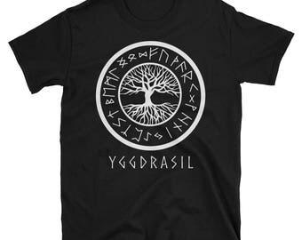 Yggdrasil Tree of Life and Viking Runes T-Shirt