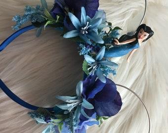 Silvermist Tinker Bell theme Flower Crown ears