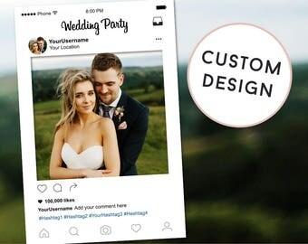 Wedding Photobooth Frame, Wedding Instagram Sign, Wedding Decorations,  Instagram Frame, Instagram Prop, Printable Photo Booth Props