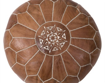 55% OFF  Brown Moroccan Vegan Pouf, Pouffe, Foot Stool, wedding gifts, gifts, home decor, ottoman, Moroccan, African