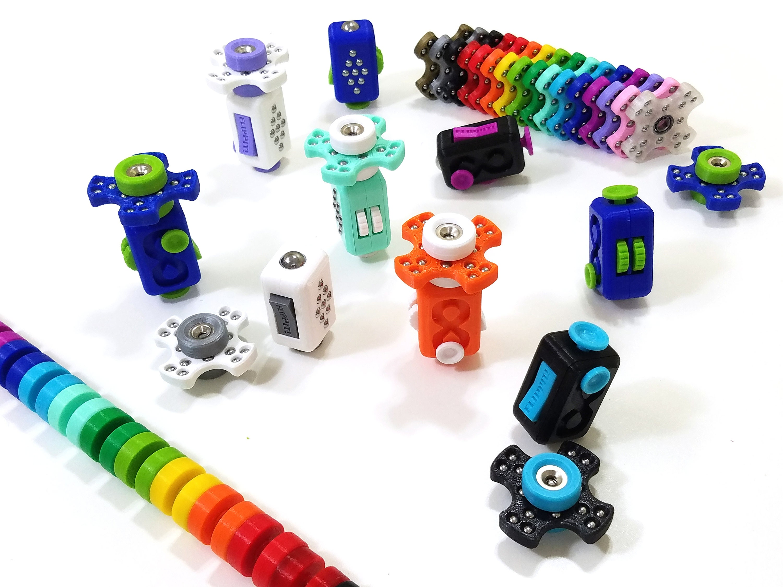 FLIPPIT Fid Cube Fid Spinner Fid Toy Adult ADHD Focus