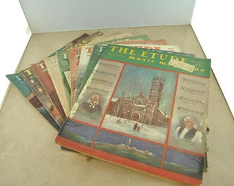 The Etude Magazine of 1946 - Quantity of 8